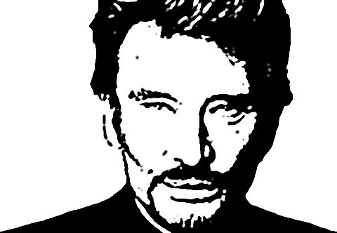 comment dessiner johnny hallyday